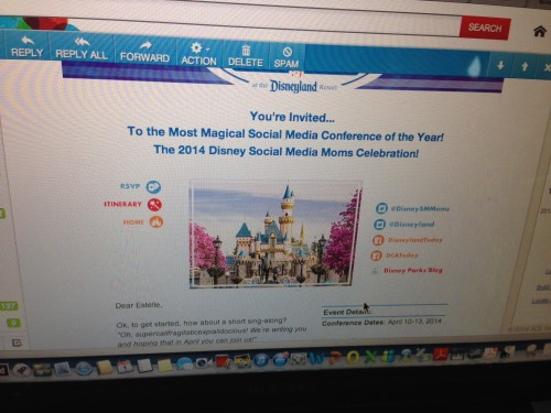 Invite to Disney Social Media Moms