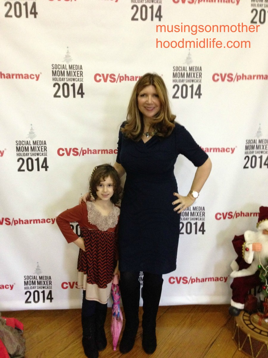 Me and my daughter at the Holiday Mom Mixer