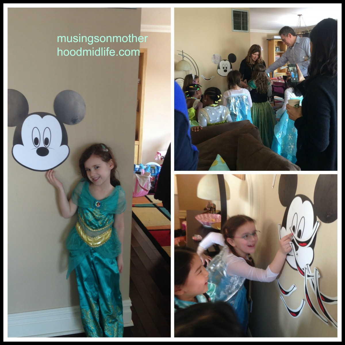 Pin the smile on Mickey Mouse