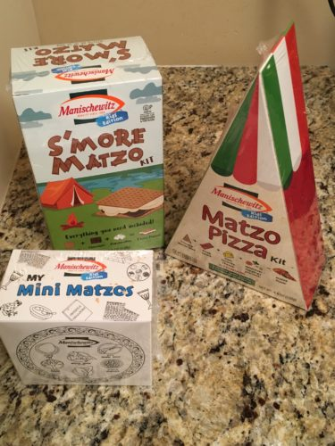 Manischewitz Mini Matzos and S'More and Pizza Kits