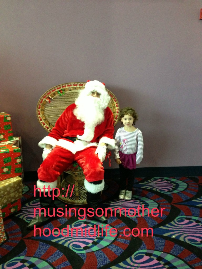 Standing with Santa