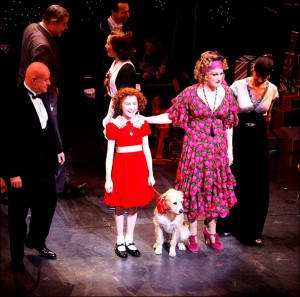 J. Elaine Marcos, Clarke Thorell, Anthony Warlow, Merwin Foard, Lilla Crawford, Sunny, Katie Finneran, Brynn O?Malley and Cast Opening night of the Broadway musical ?Annie? at the Palace Theatre ? Curtain Call. New York City, USA ? 08.11.12
